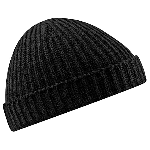 72022f66605 Amazon.com  Beechfield Unisex Retro Trawler Winter Beanie Hat (One ...