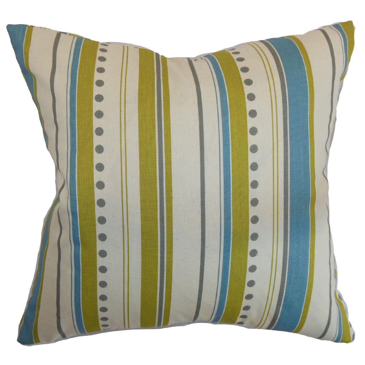 The Pillow Collection Hearst Stripes Bedding Sham Summerland Natural King//20 x 36