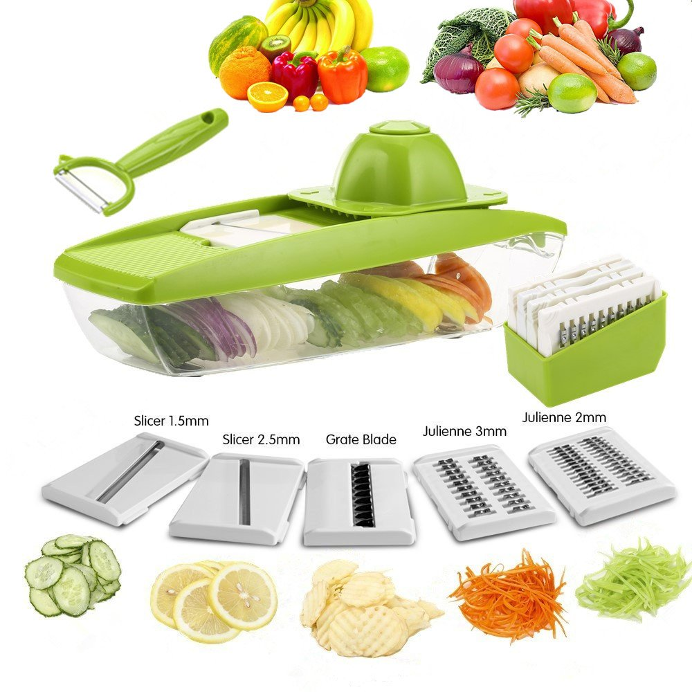 ZX-HOME COMINHKPR139646 Vegetable Grater, Large, Green by ZX-HOME