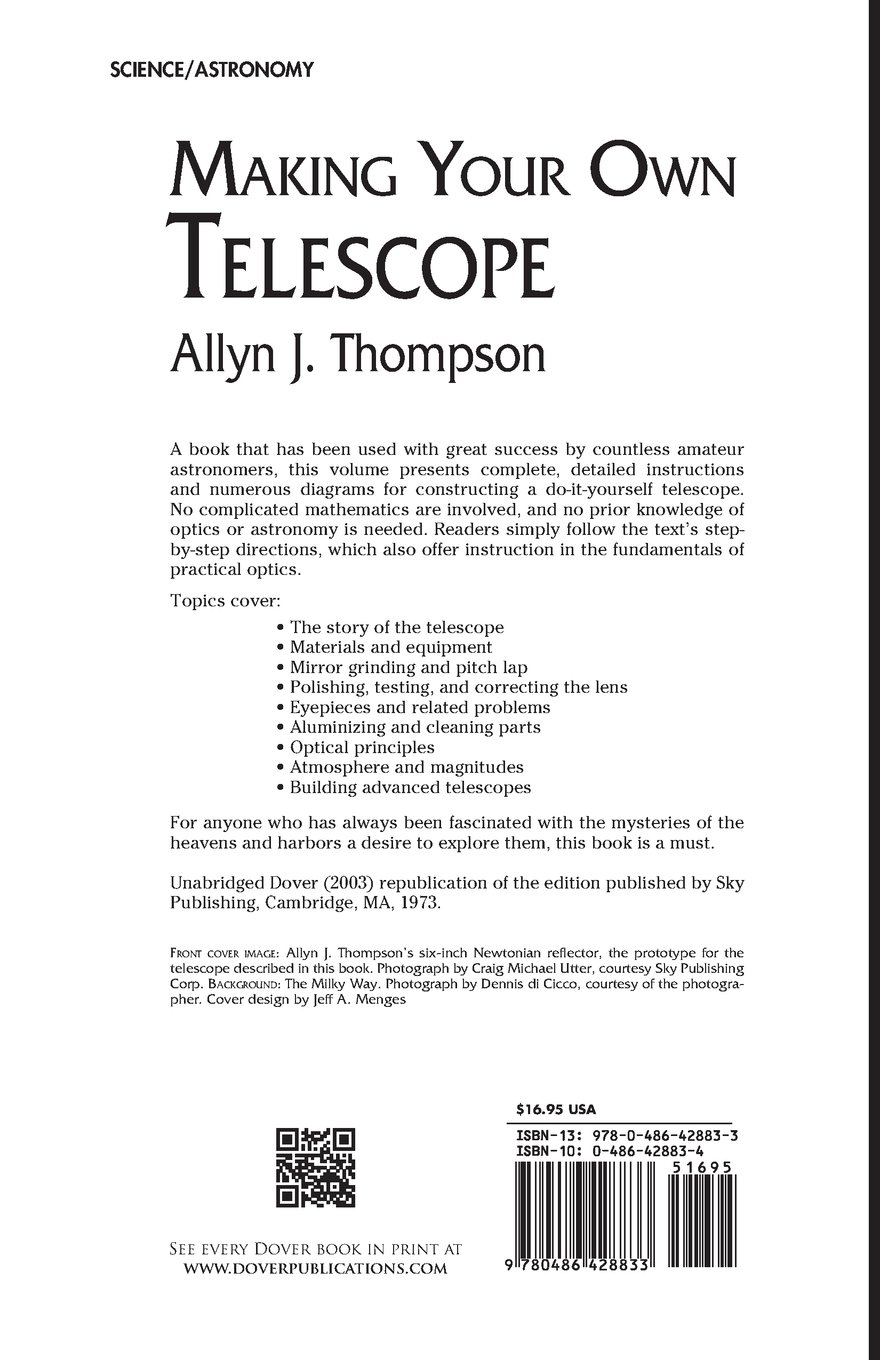Buy making your own telescope dover books on astronomy book online buy making your own telescope dover books on astronomy book online at low prices in india making your own telescope dover books on astronomy reviews solutioingenieria Choice Image