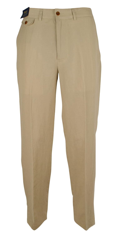 select for latest 100% quality quarantee most fashionable Polo Ralph Lauren Men's Linen Blend Classic-Fit Flat Front ...