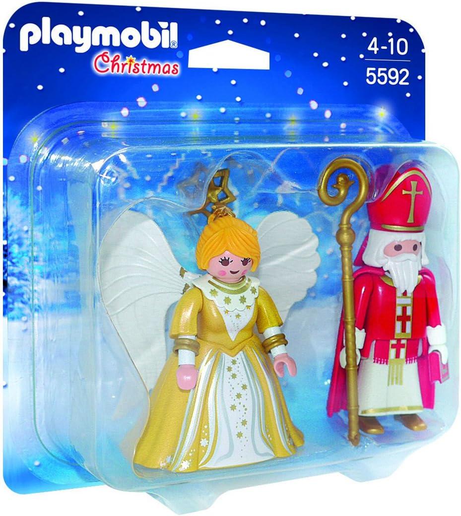 PLAYMOBIL - Christmas San Nicolás y Ángel de Navidad Playsets de ...