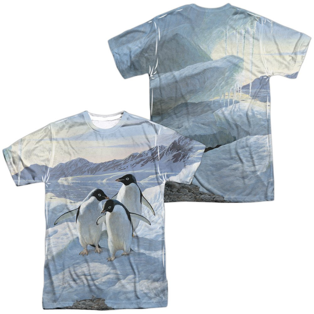 Wild Wings Penguins Adult All Over Print 100/% Poly T-Shirt