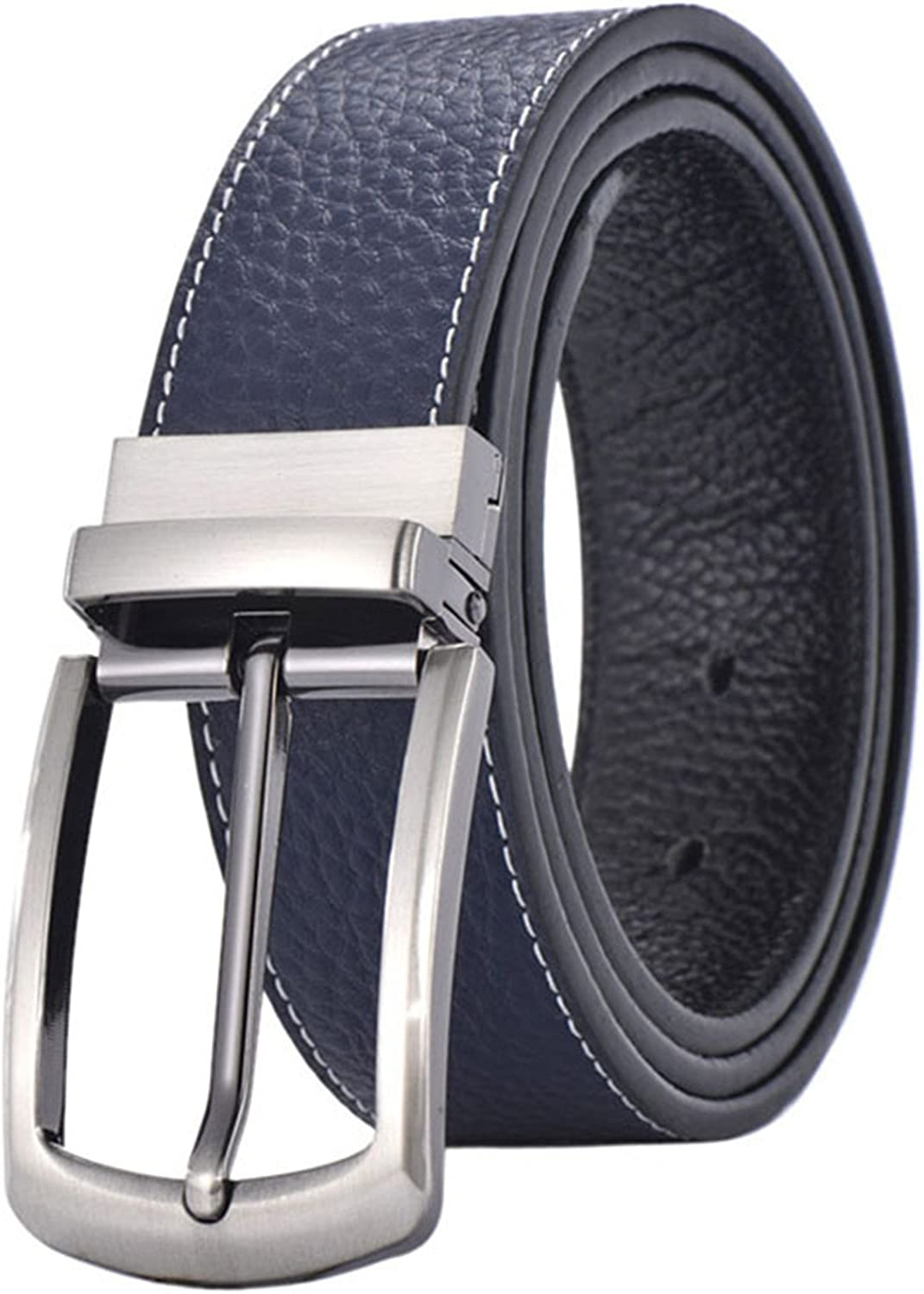 TOGIC Fashion Men Belts Leather Top Cowskin Wide Strap Male Wedding Pin Buckle Rotate Jeans