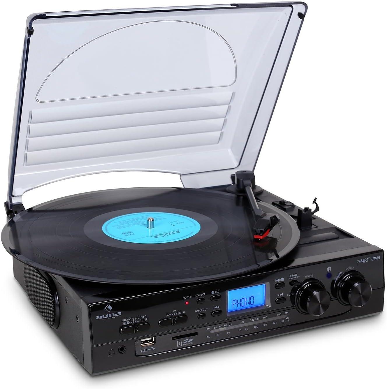 AUNA TT-186E Equipo estéreo Tocadiscos: Amazon.es: Electrónica