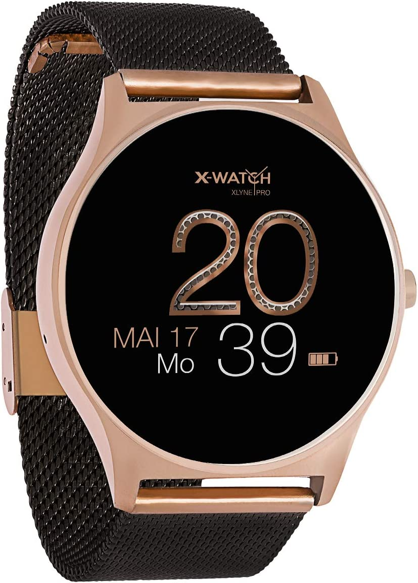 X-WATCH Joli XW Pro - Smartwatch para Mujer, Color Oro Rosa, Smartwatch para iOS