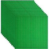 Lekebaby Placa Base 25.5 x 25.5 cm Base de Construcción Classic Base Verde Compatibles para Grandes Marcas, 12 Piezas