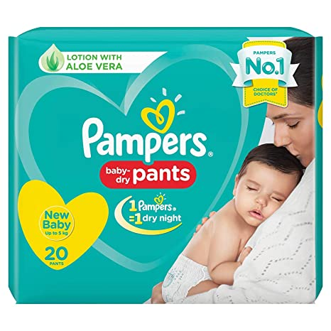 Buy Pampers New Diaper Pants, New Born, 20 Count Online at Low