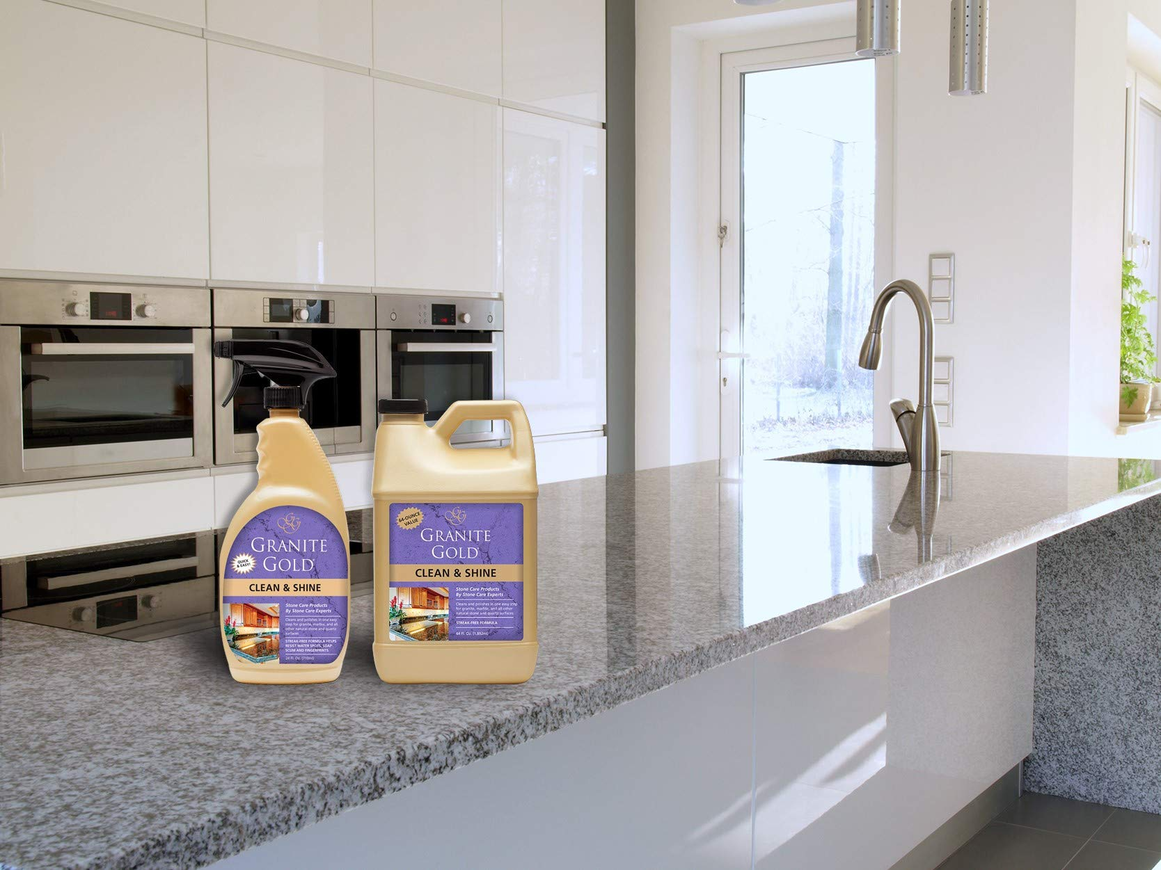 Granite Gold Clean and Shine Spray and Refill Value Pack - Polishes and Deep Cleans Natural Stone Surfaces, Made in The USA by Granite Gold (Image #3)