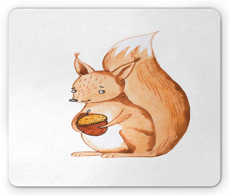 Cojín de ratón de la ardilla, retrato dibujado mano del ...