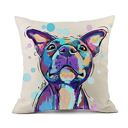 Amazon redland art cute pet pit bull dogs pattern cotton linen redland art cute pet pit bull dogs pattern cotton linen throw pillow case cushion cover home solutioingenieria Gallery