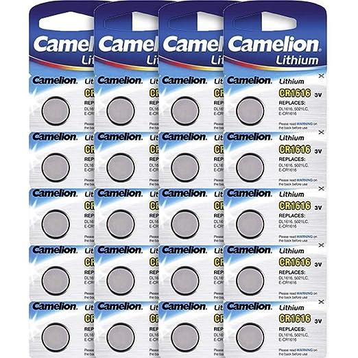 My-Watch CR1616 - Lote de 20 Pilas de Litio para Reloj: Amazon.es: Relojes