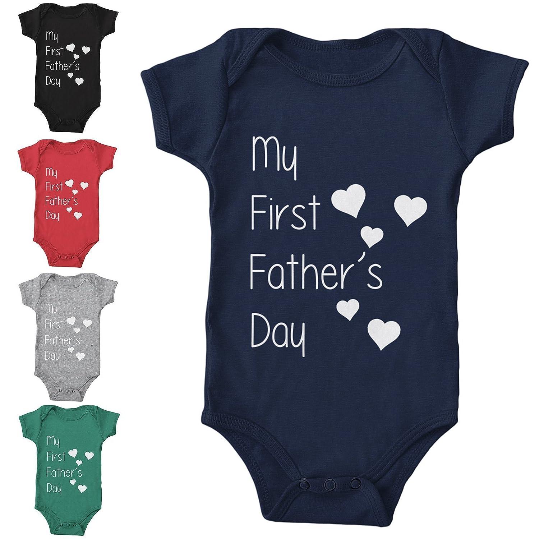 84c39573 My First Fathers Day Babygrow Romper Cute Gift Dad Daddy Newborn Bodysuit  HEARTS: Amazon.co.uk: Handmade