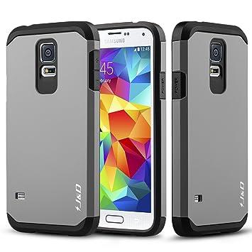 J&D Compatible para Galaxy S5 Funda, [Armadura Delgada ...