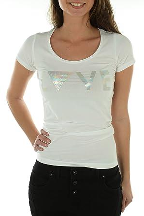 Tee shirt guess femme manches courtes W51I05 Blanc | eBay