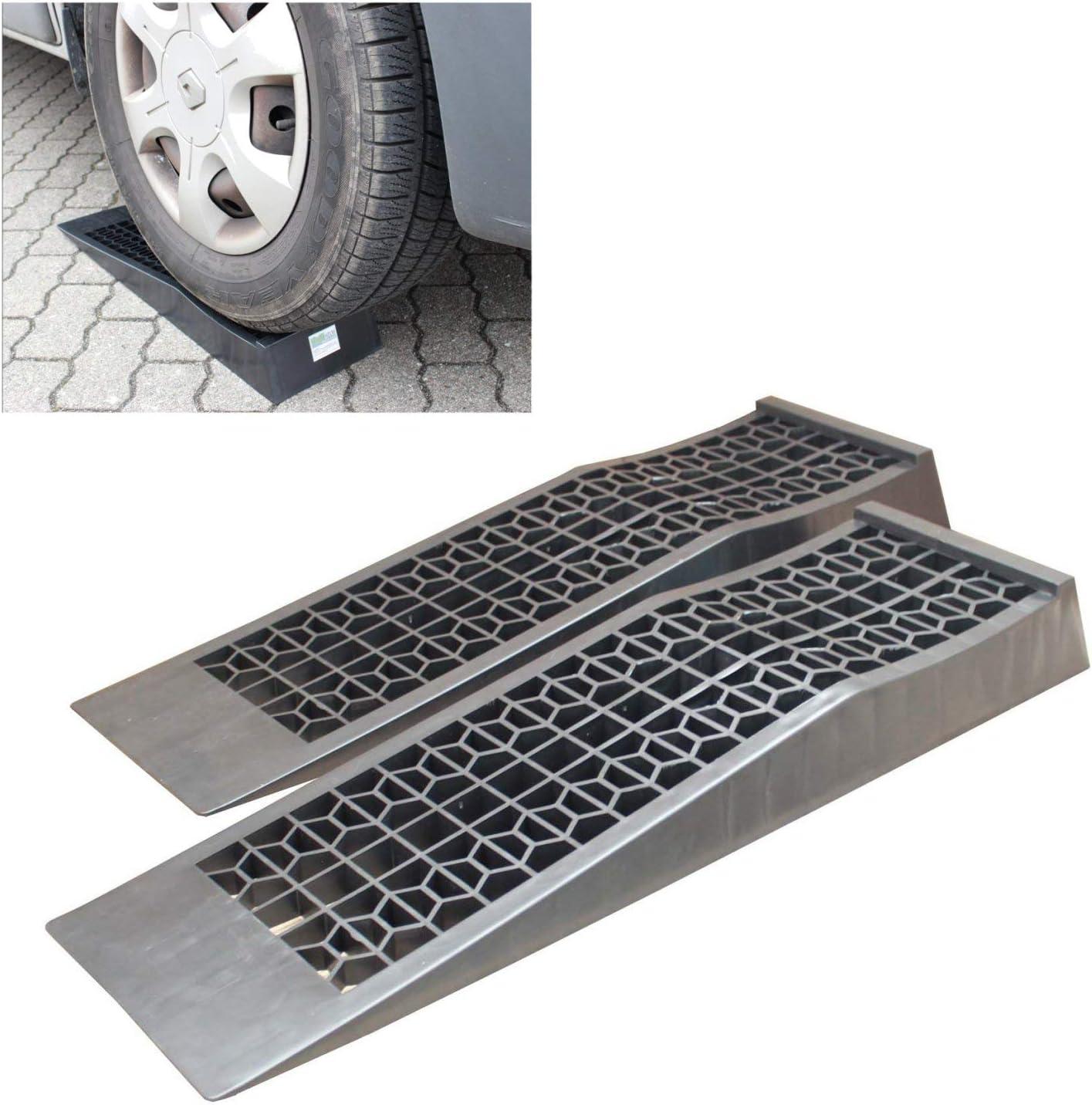 Trutzholm 1 Paar Kunststoff Auffahrrampen Extra Flach Pkw Wohnmobil Wohnwagen 3000kg Rampe Auto
