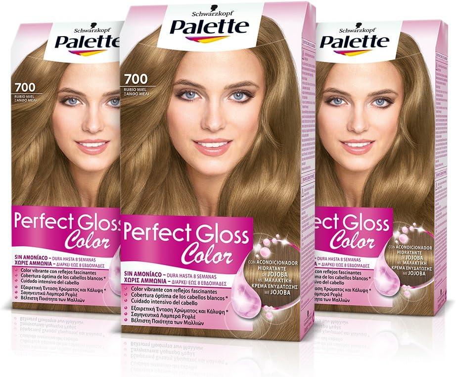 Palette Perfect Gloss Coloración del Cabello 700 Rubio Miel ...