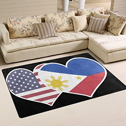 amazon com love friendship philippines american flag area rugs