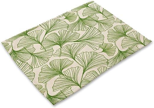 ZLDDE Manteles Serie de la Hoja Verde Fresco de la impresión de algodón de Lino Manteles