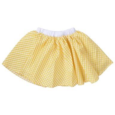 TreeDY - Falda - Skort - para niña Amarillo Amarillo M: Amazon.es ...