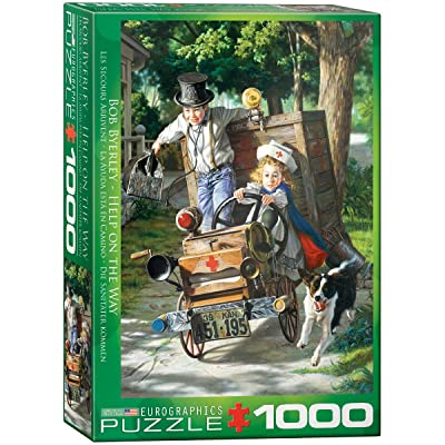 EuroGraphics Help on The Way by Bob Byerley Jigsaw Puzzle (1000-Piece): Toys & Games