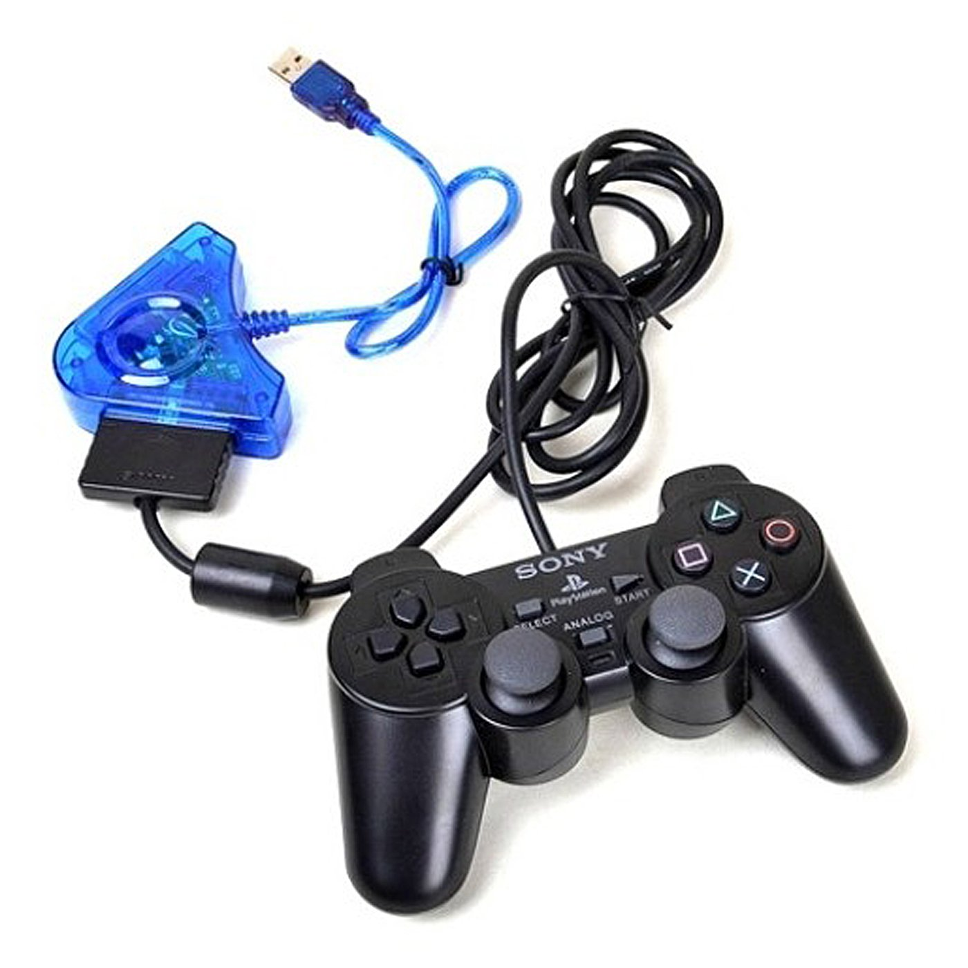 Hde Usb Controller Adapter For Psx And Ps2 Controllers Dual Port Gamepad Interface Circuit Using Or N64 To Pc Converter Computers Accessories