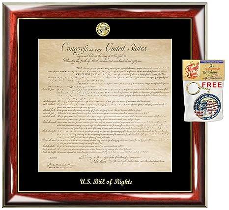 Amazon.com: Bill de derechos marco ley escuela Grad regalo ...