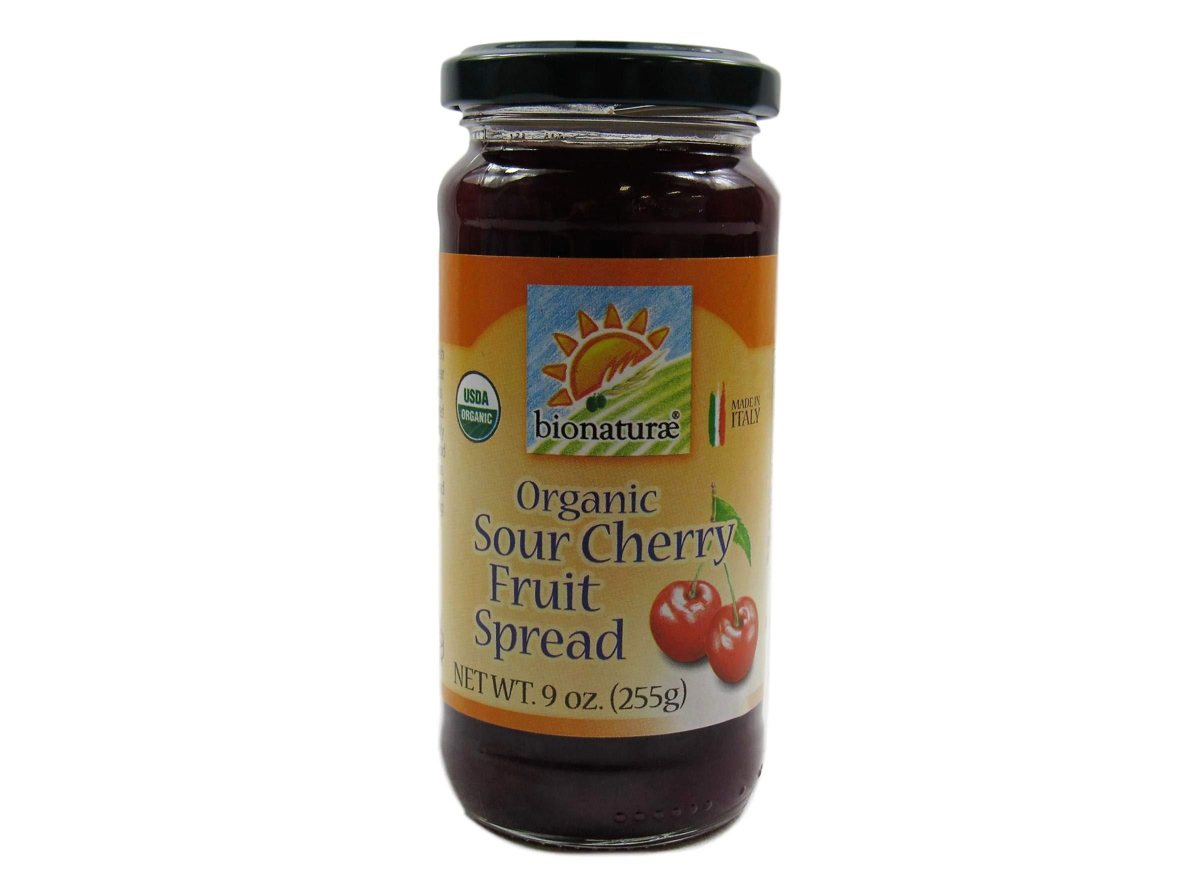 BIONATURAE FRUIT SPREAD SOUR CHERRY, 9 OZ