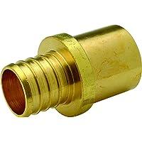 """Zurn QQ700CX Crimp Male Sweat Adapter, Small Diameter, 1"""" Male Sweat x 1"""" Barb, Copper (Pack of 25)"""