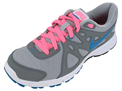 huge inventory online here excellent quality Nike Women's Revolution 2 Running Shoe Grey/Pink/Turquoise
