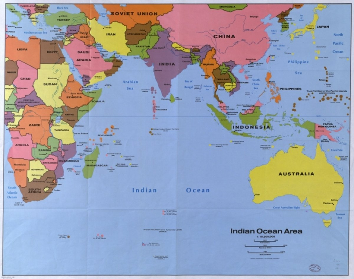 Amazon Com Map Of Indian Ocean Area Posters Prints