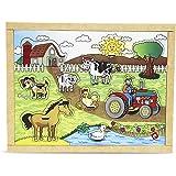Carlu Brinquedos - Pinos Fazenda Quebra-Cabeça, 4+ Anos, 10 Peças, Multicolorido, 1653