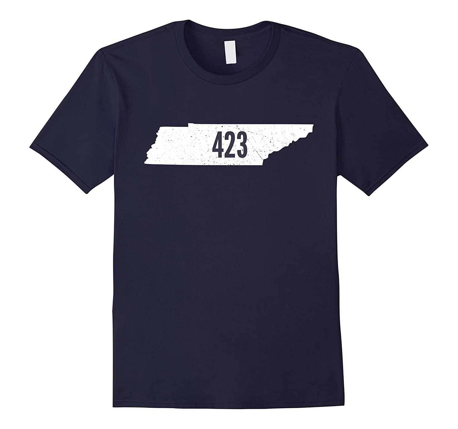 423 Tennessee Pride Area Code State Outline T-Shirt-TH