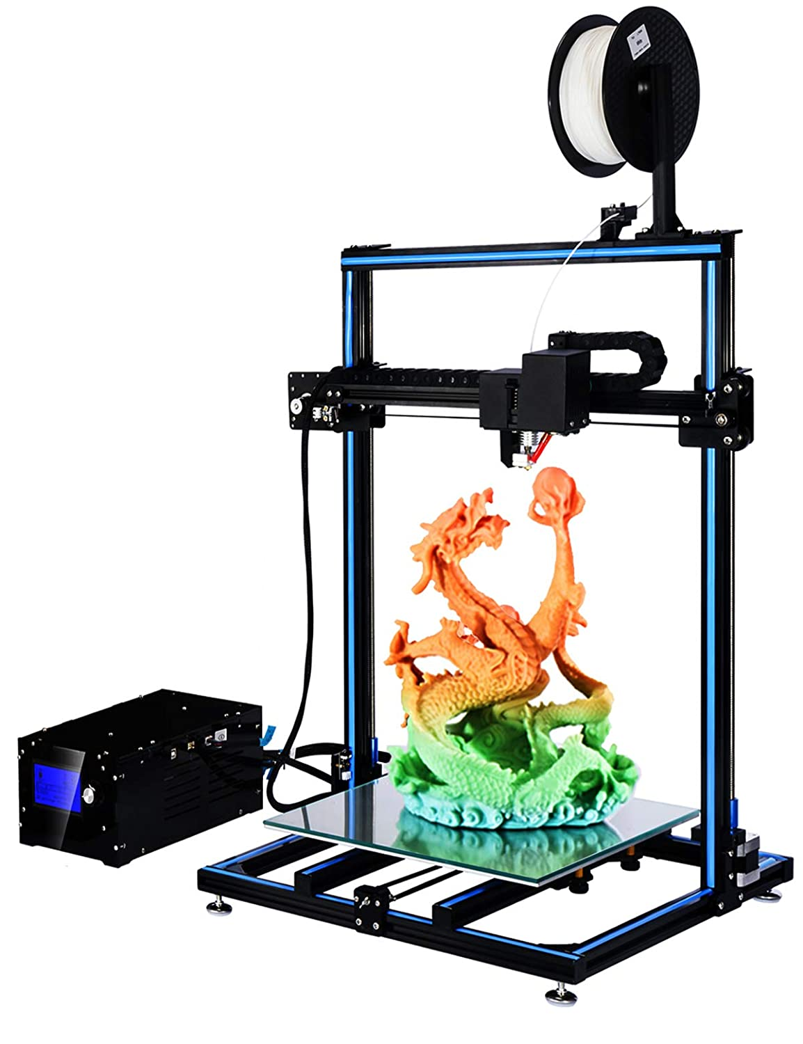 ADIMLab 3D Printer Assembled 24V Prusa I3 3D Printing Size 310X310X410 with Heat Bed and Glass Control Box PLA Supply Auto Leveling Method