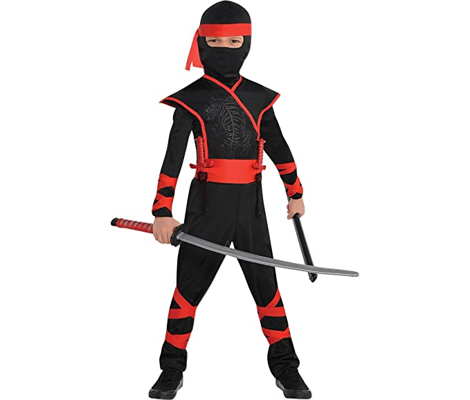 amscan shadow ninja halloween costume boys small included accessories