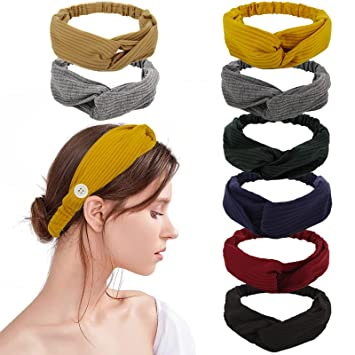 Ladies Stretch Hairband Grey Ladies Twisted Knot Elasticated Headband