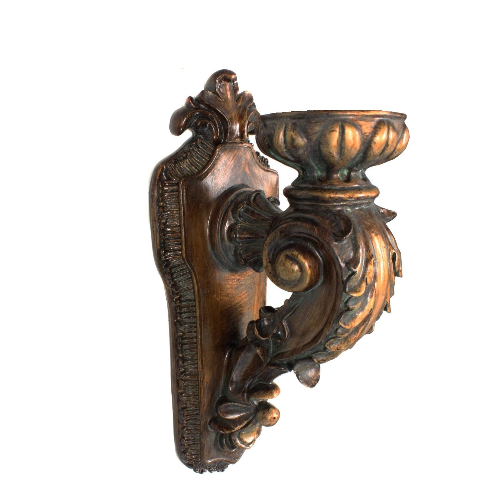 EcWorld Enterprises 7705337 Antique Replica Rusted Wall Sconce Candle Holder