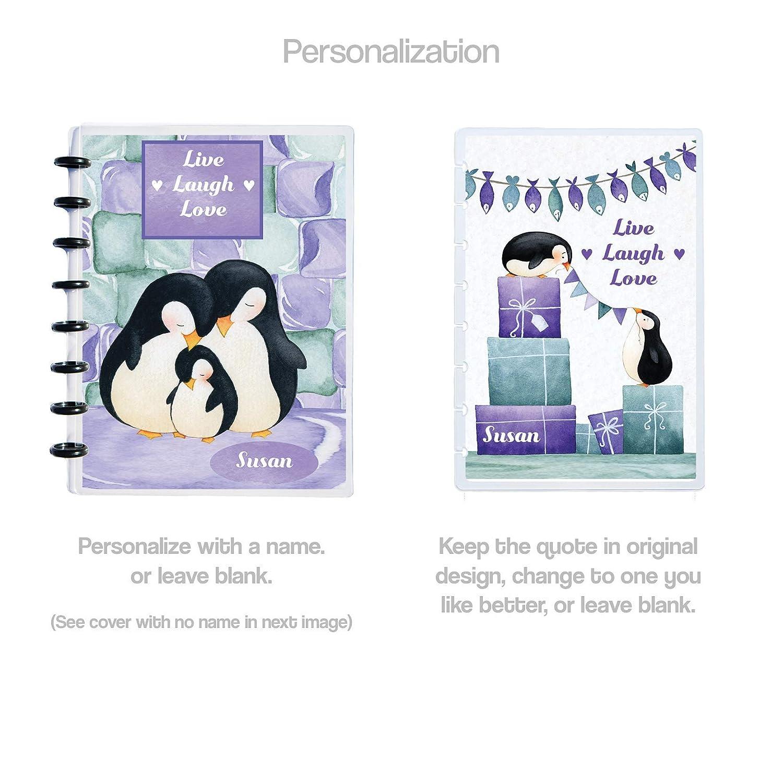 Discbound Laminated Penguin Celebrating Planner Dashboard