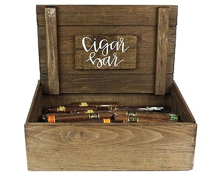 Cigar Bar boda pantalla caja cigarros puros no incluido ...