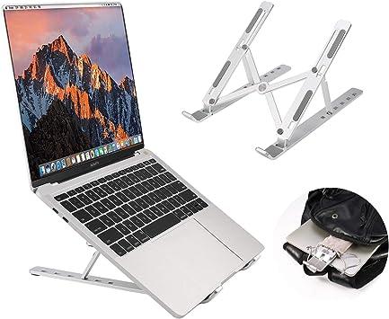 Portable Foldable Ergonomic Desktop Stand Holder Mount for Notebook Computer Tablet Laptop Stand Adjustable and Portable Laptop Stand