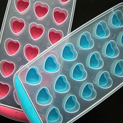 Bandejas de cubitos de hielo en forma de corazón moldes de cubos de hielo de silicona