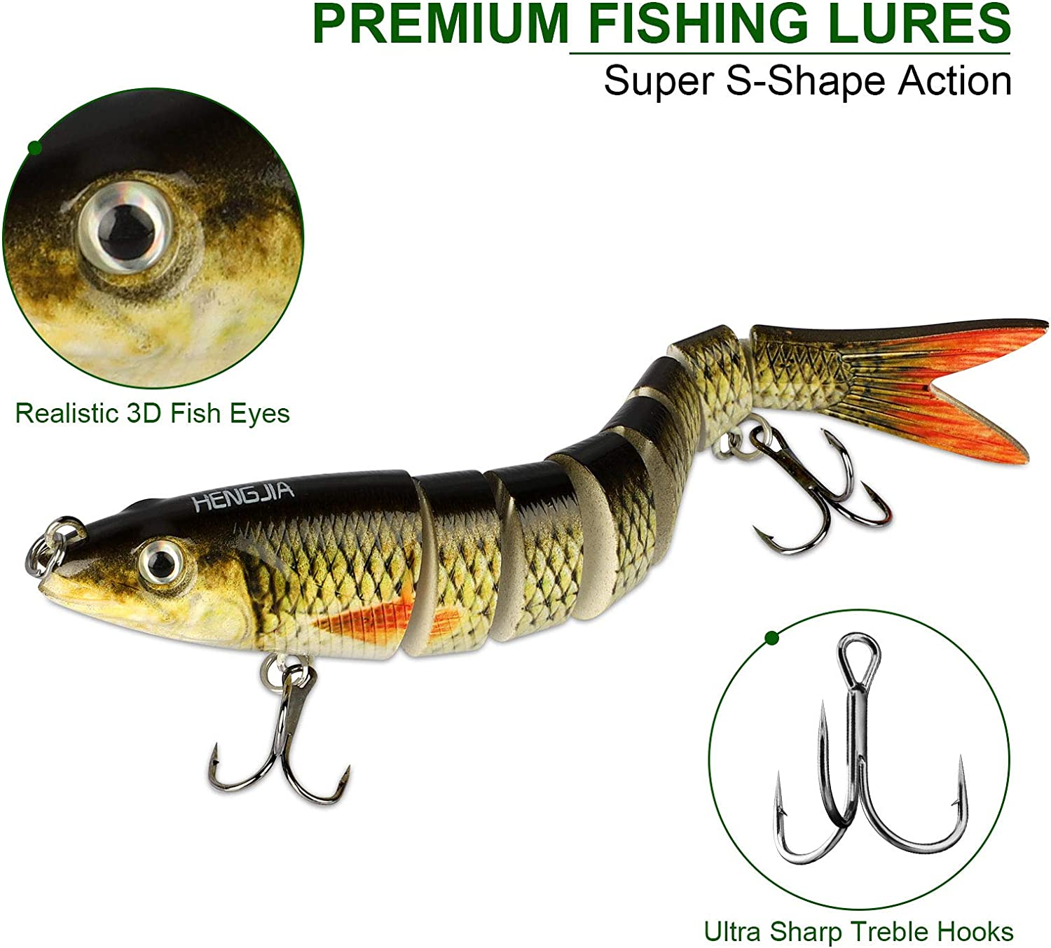 Details about  /1Pcs Fishing Lure Luminous Lures Hard Bait Fishing Tackle Fishing Accessories*QA