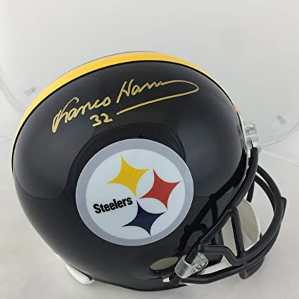e09f35d6c Image Unavailable. Image not available for. Color  Franco Harris  Autographed Helmet - FS Riddell ...