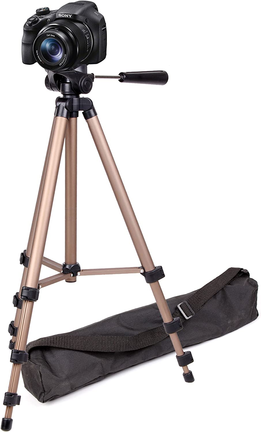 Compatible with The Sony DSC-HX90 DURAGADGET Professional Tough Versatile Sturdy Tripod with 3D Ball Head
