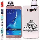 Universecase Cover Samsung Galaxy J6 2018, Custodia Samsung Galaxy J6 2018 3D Panda Squishy Kawaii Toy Animal, Silicone Case Antiurto Anti-Graffio Bumper Protettiva Caso