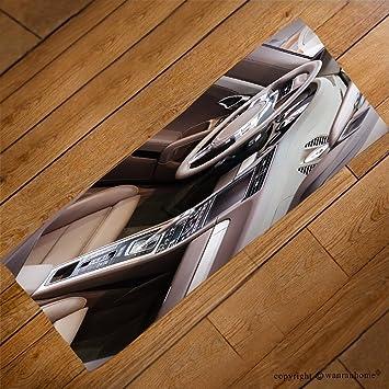 VROSELV Custom Towel Soft And Comfortable Beach Towel Dark Luxury Car  Interior Steering Wheel Shift