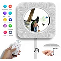 Portable CD Player, Alice Dreams Wall Mountable Wireless CD Music Player Bluetooth Speaker MP3 Player with Remote Control and MP3 3.5MM Headphone Audio jack AUX input/output (White)