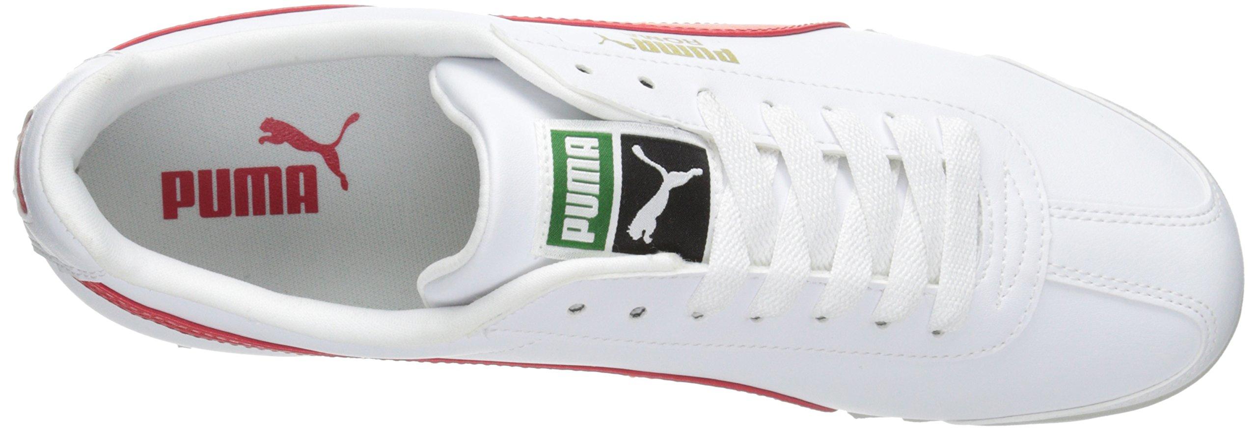 PUMA Men's Roma Basic Fashion Sneaker, White/High Risk Red/White - 9 D(M) US by PUMA (Image #8)