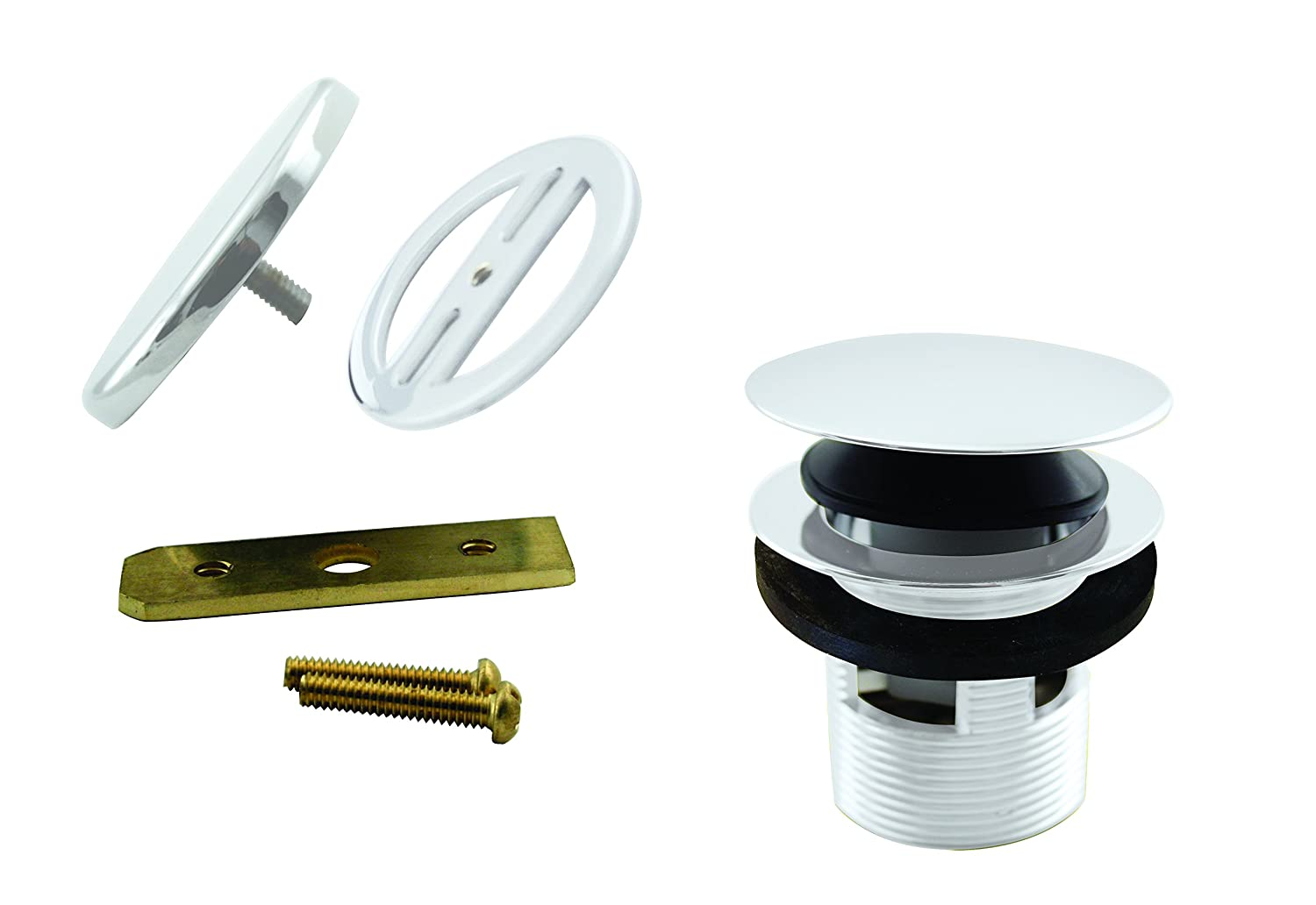 Westbrass D98RK-12 1-1//2-Inch NPSM Coarse Thread Integrated Overlfow ADA Approved Tip-Toe Bath Drain