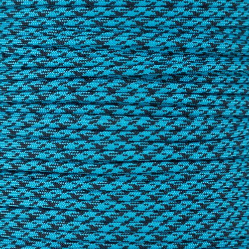 (Pattern Style Color Paracord Choices of 550 LB Tensile Strength with Twisted Inner 7 Strand Removable Core Parachute Cord in 10, 25, 50, 100 Foot Lengths)